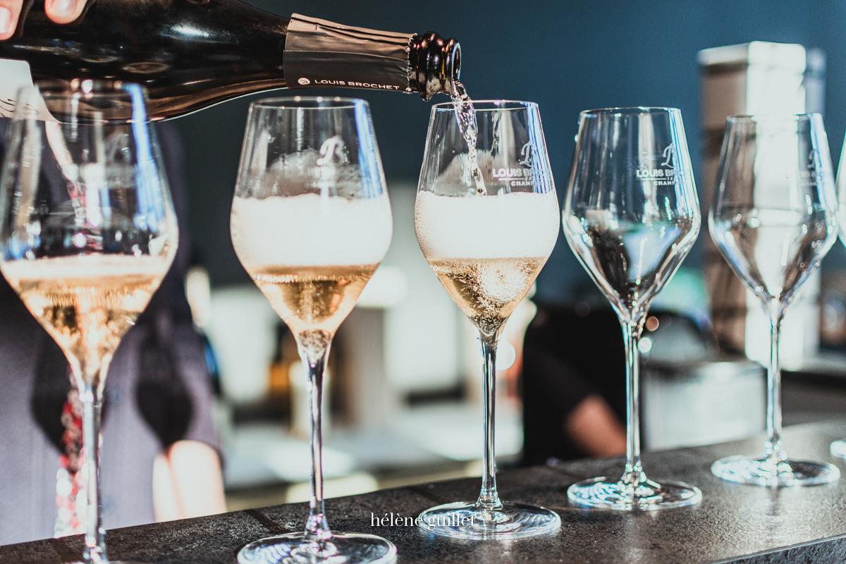 Degustation flutes Champagne Louis Brochet