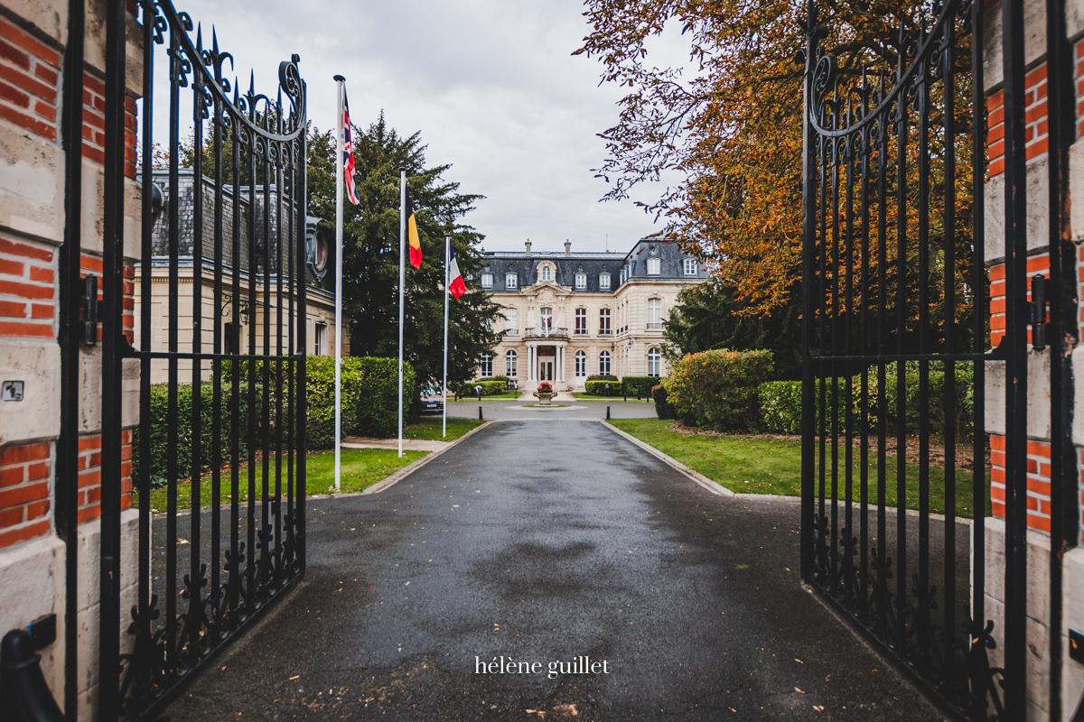 Photographie Entrée Domaine Les Crayères Reims Helene Guillet Photographe