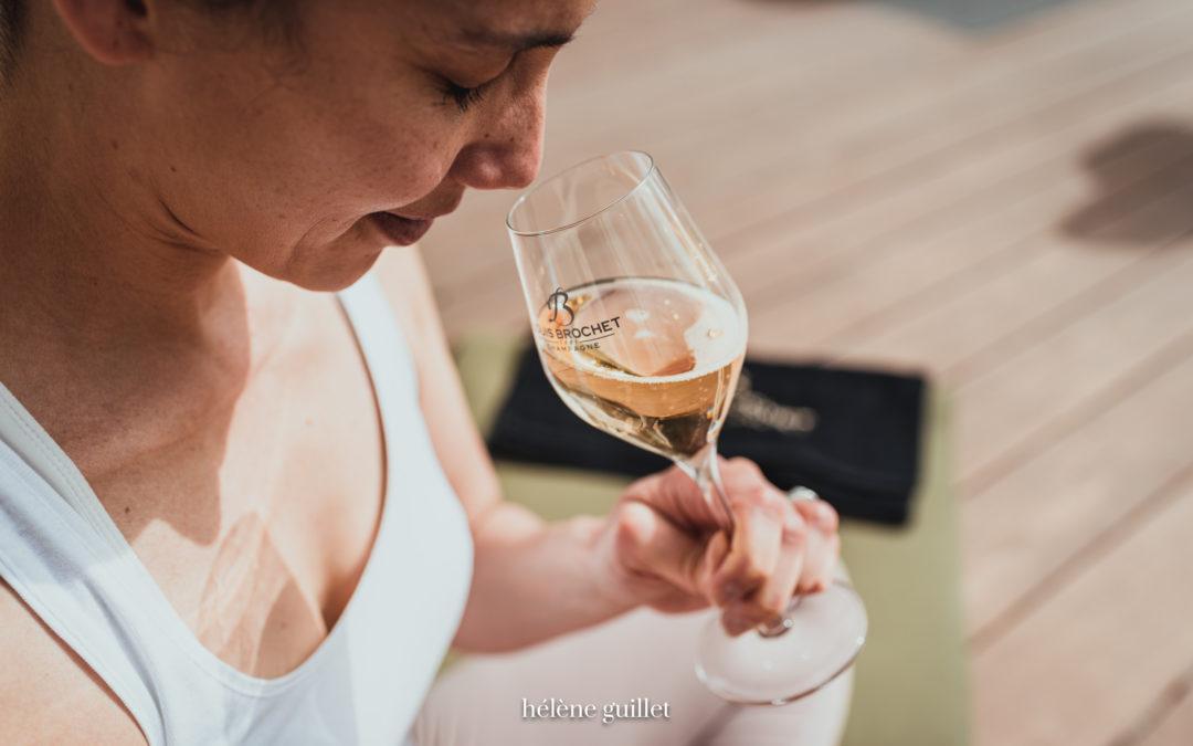 Dégustation de Champagne & Yoga - Champagne Louis Brochet par Hélène Guillet Photographe